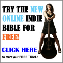 free trial of the indie bible music directory online, a promotional resource for indie artists and songwriters