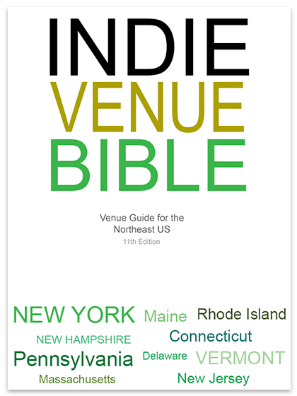 Gain Exposure with the indie venue bible
