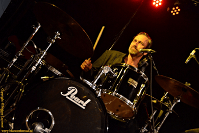 indie bible music promotion: image of a drummer performing live on stage