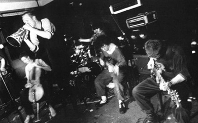 indie bible music promotion: image of a punk band performing live on stage